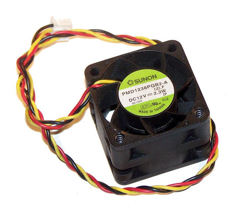Sunon PMD1238PQB2-A 12VDC 2.3W 40mm x 28mm 3-wire Fan - 30cm